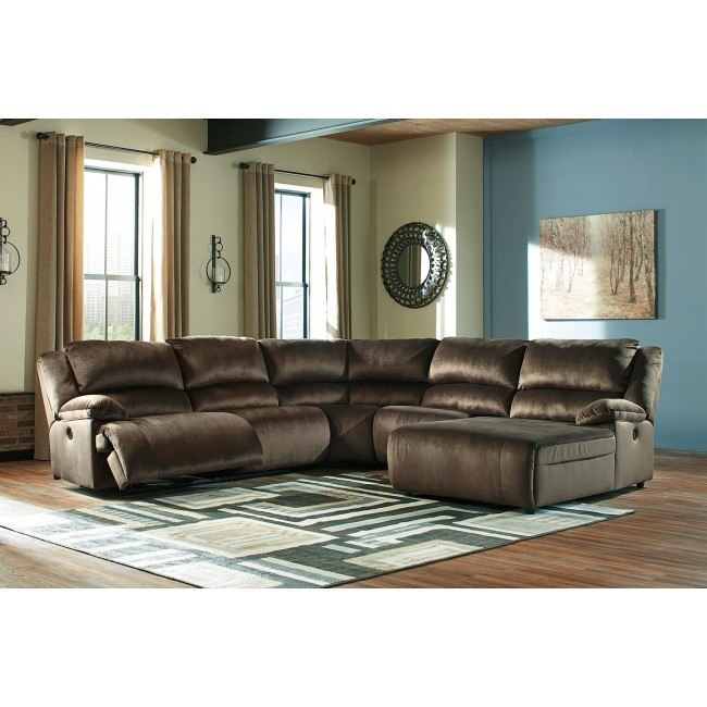 Cool Clonmel Chocolate Modular Power Reclining Sectional Gmtry Best Dining Table And Chair Ideas Images Gmtryco