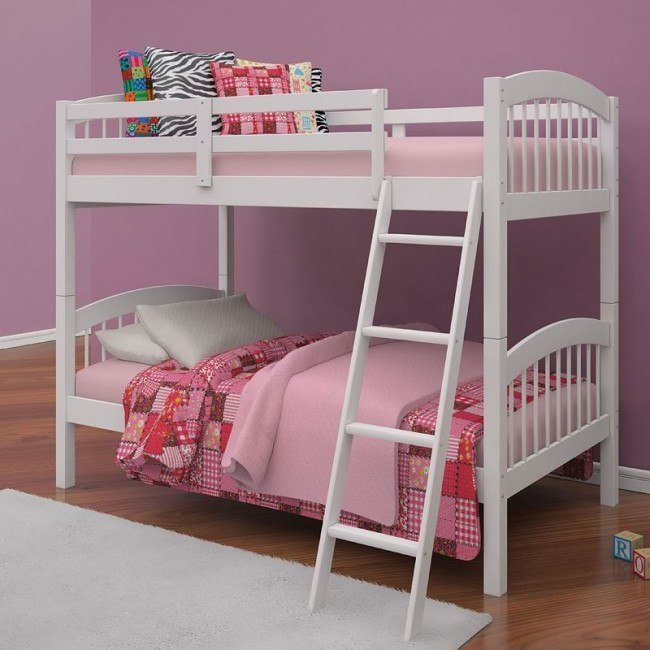 Manville Twin Bunk Bed (White)