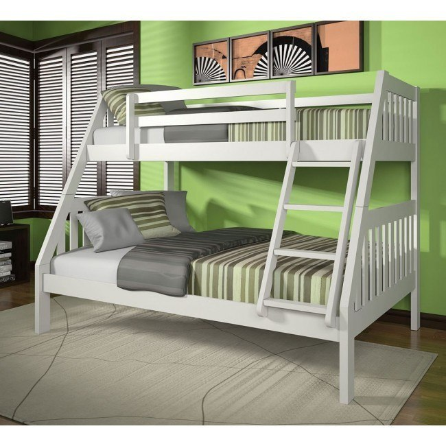 Ryo Twin over Full Bunk Bed (White)