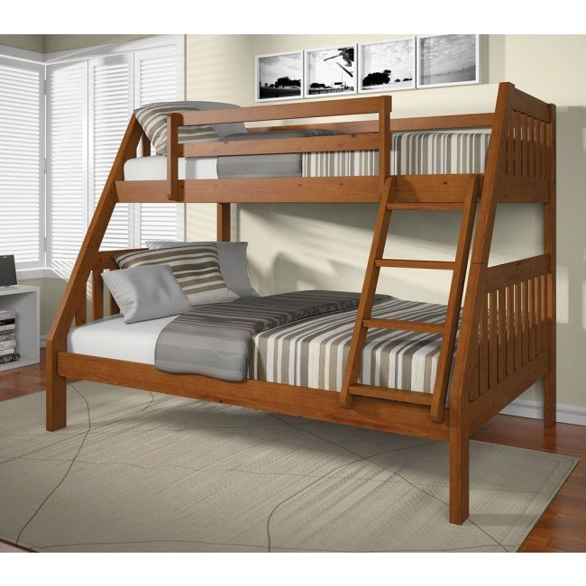 Ryo Twin over Full Bunk Bed (Oak)