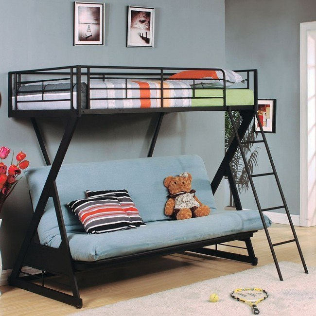 Zazie Twin over Full Futon Bunk Bed