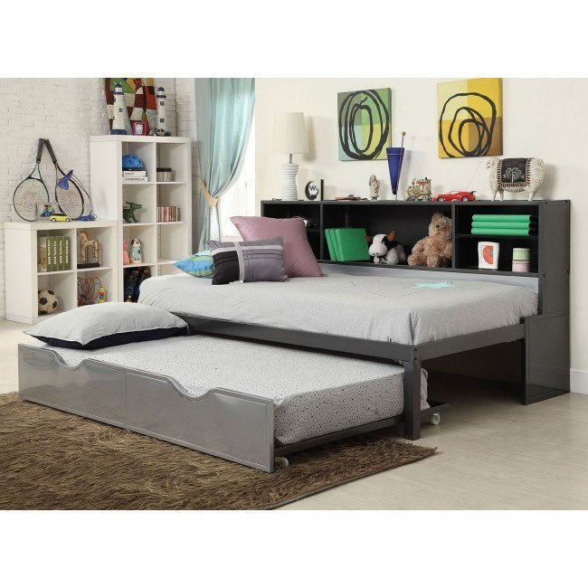 Renell Twin Bookcase Bed w/ Trundle