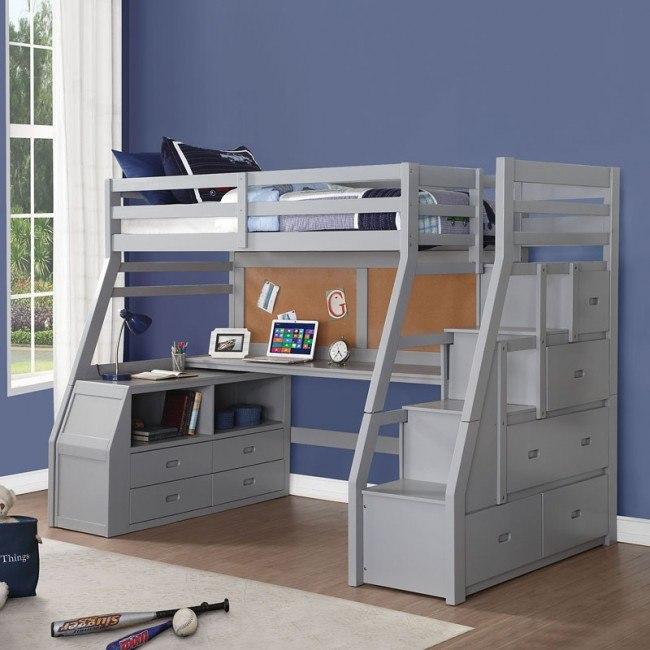 Jason Ii Twin Loft Bed By Acme