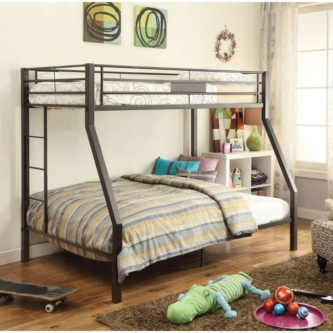 Limbra Twin over Full Bunk Bed (Brown)