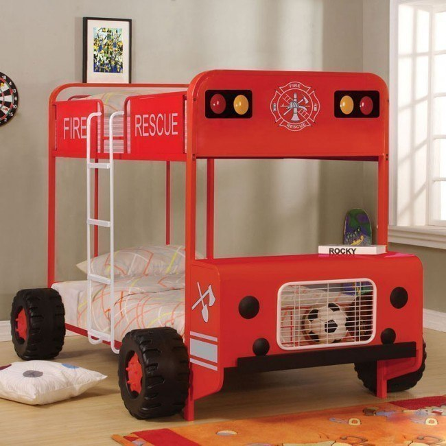 Jackson Fire Truck Bunk Bed
