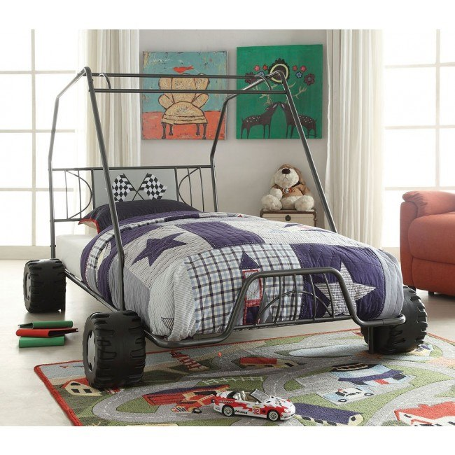 Xander Twin Go Kart Bed (Gunmetal)