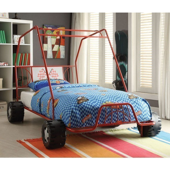Xander Twin Go Kart Bed (Red)