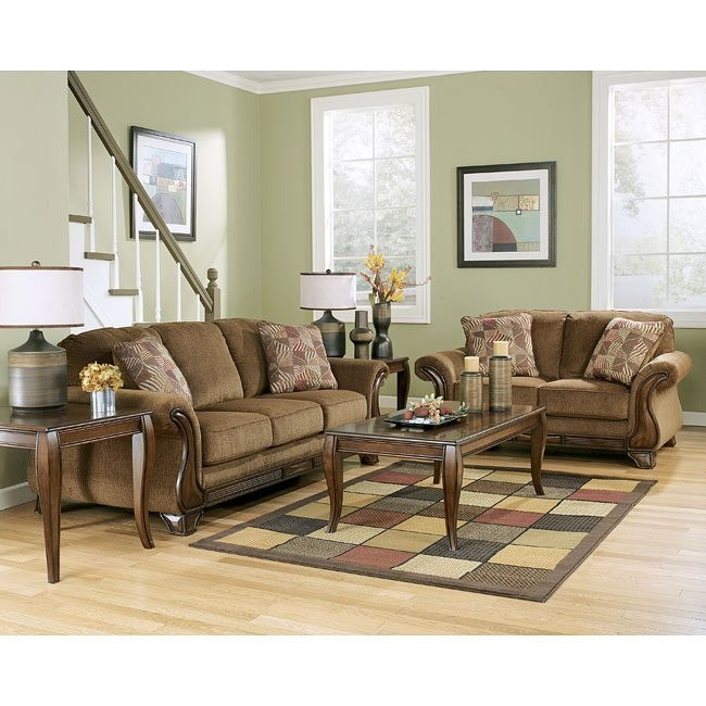 Montgomery Mocha Living Room Set By Signature Design By