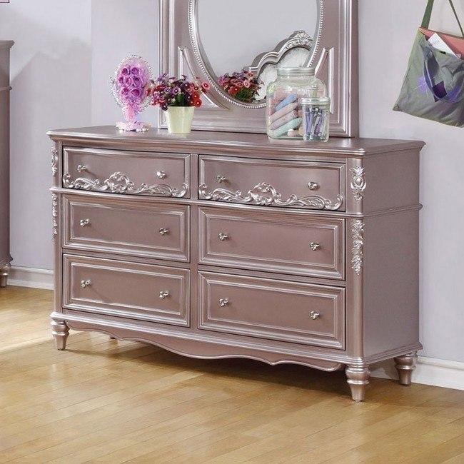 Caroline Dresser (Metallic Lilac)