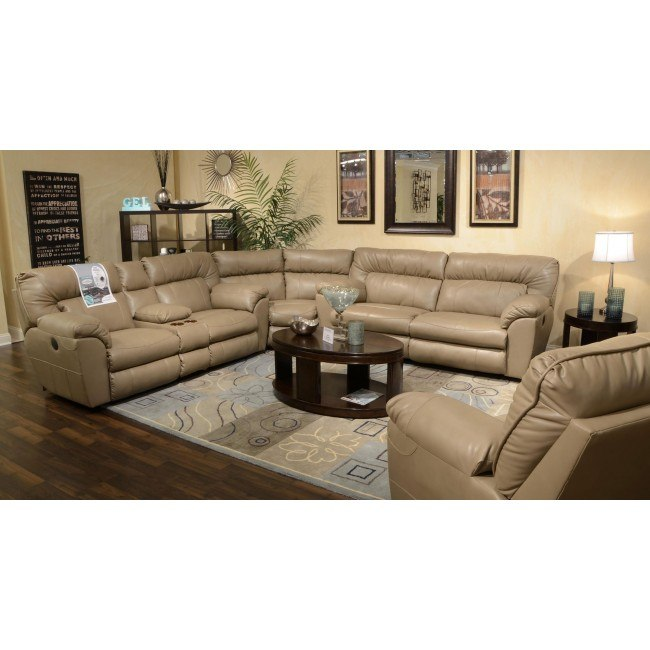 Nolan Reclining Sectional Set (Putty)
