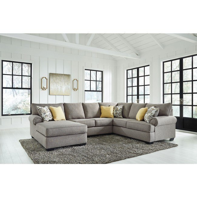 Renchen Pewter Modular Left Chaise Sectional