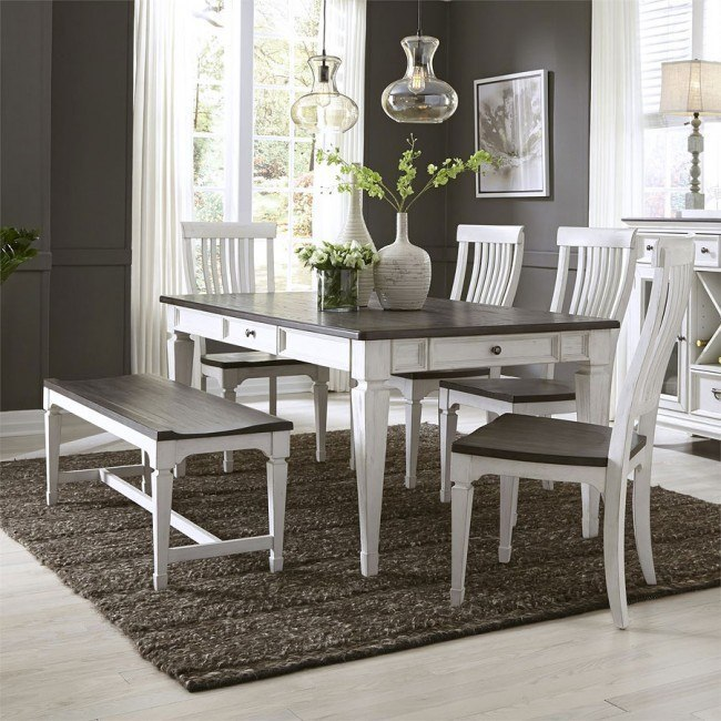 Incredible Allyson Park Rectangular Dining Room Set W Bench Caraccident5 Cool Chair Designs And Ideas Caraccident5Info