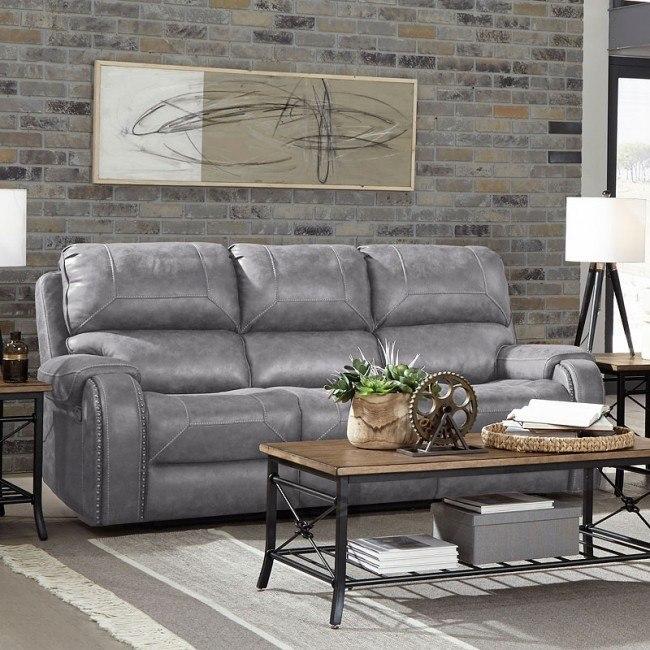 Clayton Reclining Sofa Grey By