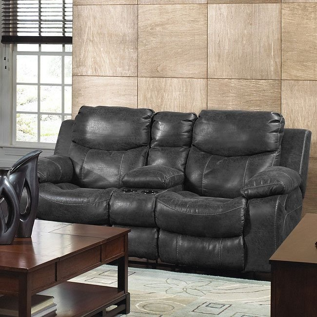 Astonishing Catalina Reclining Loveseat W Console Pabps2019 Chair Design Images Pabps2019Com