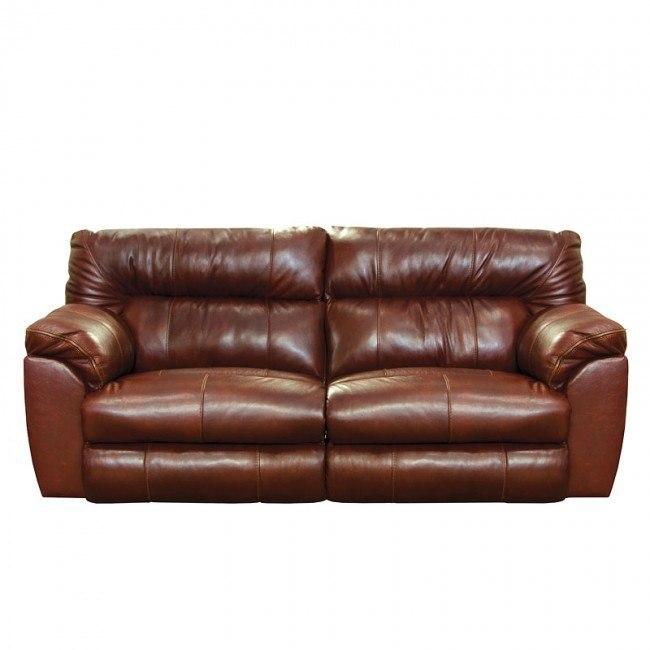 Milan Lay Flat Reclining Sofa (Walnut)