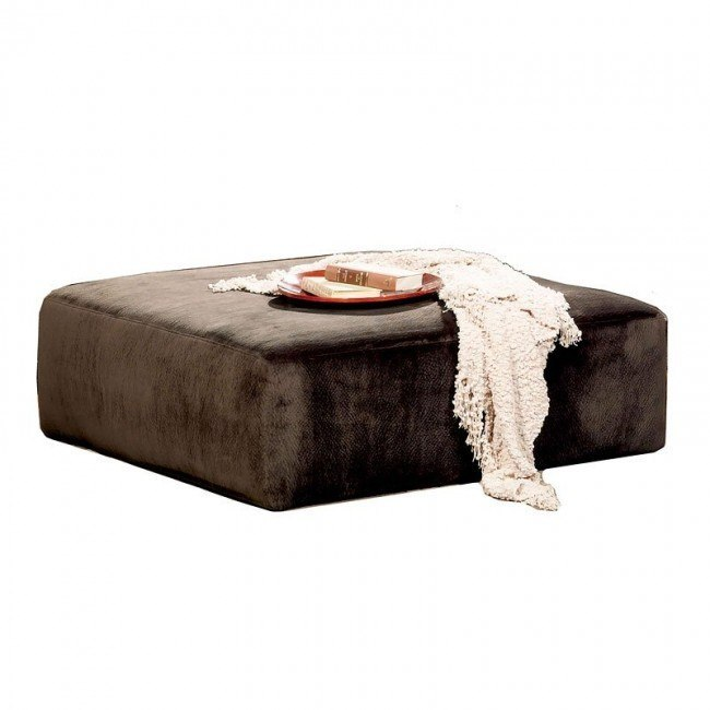 Everest 51 Inch Cocktail Ottoman (Chocolate)