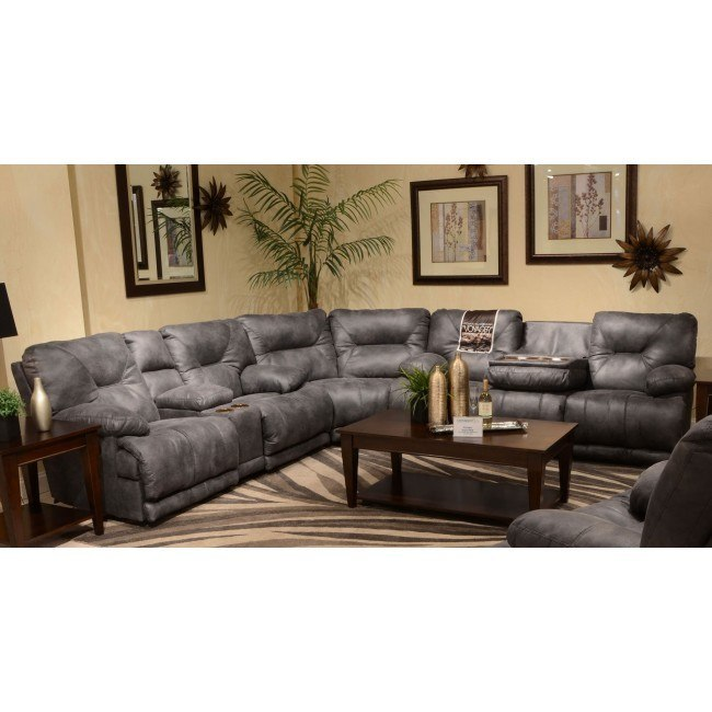 Astounding Voyager Reclining Sectional Slate Ncnpc Chair Design For Home Ncnpcorg
