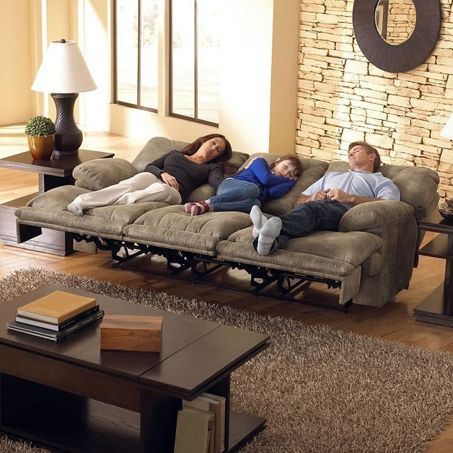 Voyager Lay Flat Triple Reclining Sofa