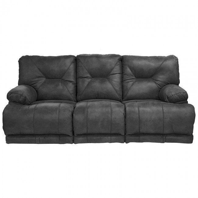Voyager Lay Flat Triple Reclining Sofa (Slate)