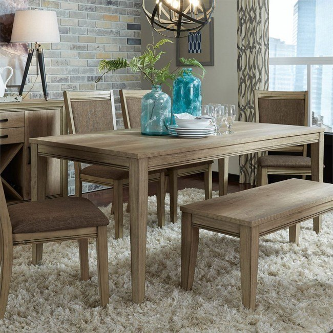 Groovy Sun Valley 72 Inch Rectangular Dining Set W Bench Caraccident5 Cool Chair Designs And Ideas Caraccident5Info