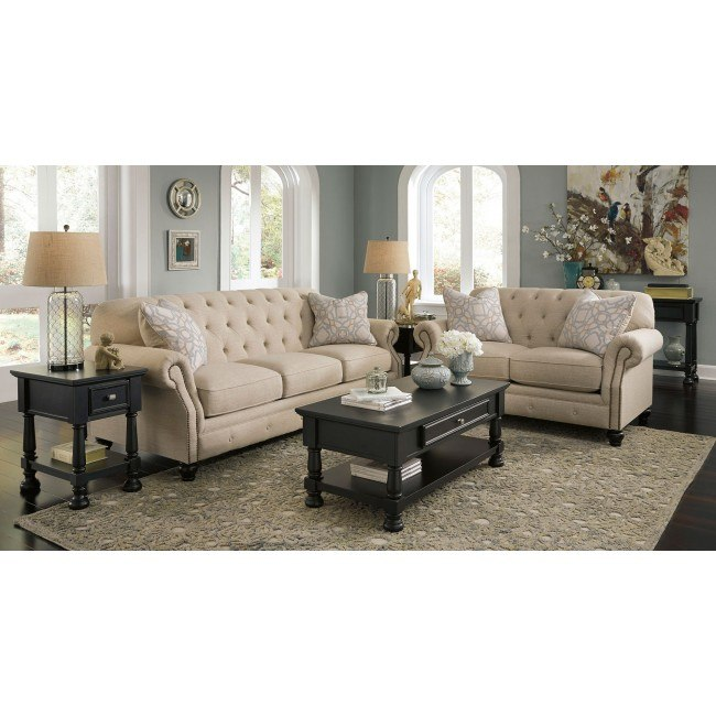 Kieran Natural Living Room Set