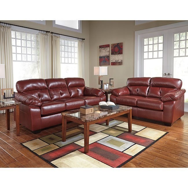 Bastrop DuraBlend Crimson Living Room Set