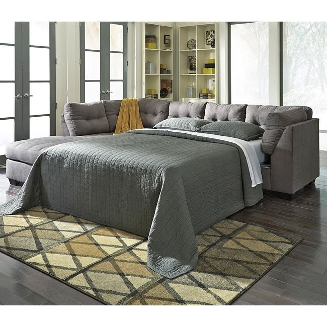 Maier Charcoal Left Chaise Sectional w/ Sleeper