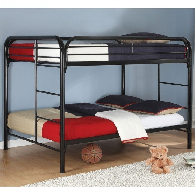 Fordham Full over Full Bunk Bed (Black)