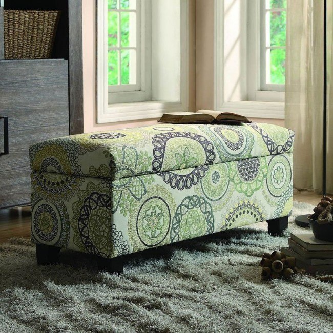 Clair Lift Top Storage Bench (Medallion)