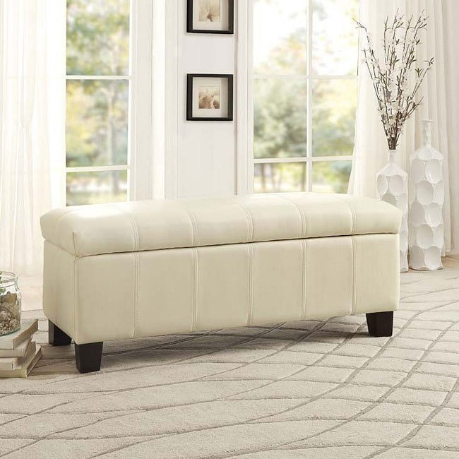 Clair Lift Top Storage Bench (Taupe)