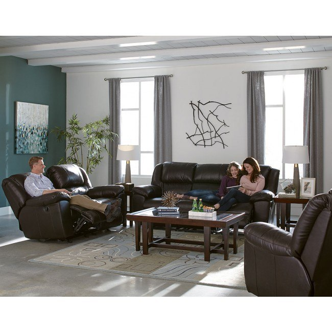 Transformer II Reclining Living Room Set (Chocolate Italian Leather)