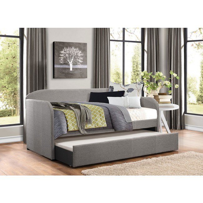 Roland Grey Daybed w/ Trundle