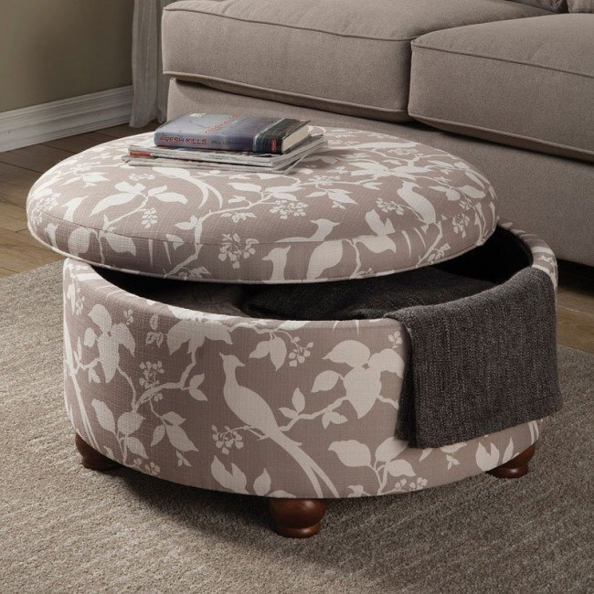 Brilliant Storage Ottoman W Birds And Floral Print Gmtry Best Dining Table And Chair Ideas Images Gmtryco