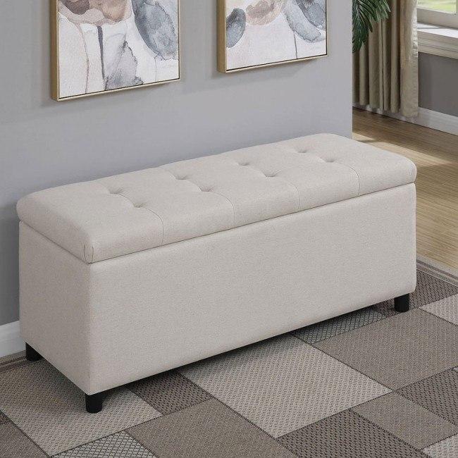 Swell Beige Storage Ottoman Cjindustries Chair Design For Home Cjindustriesco