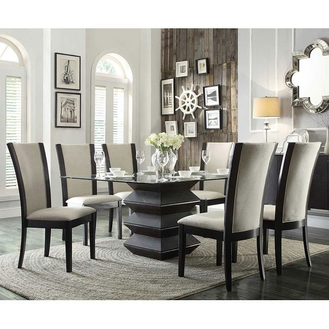 Havre Dining Room Set w/ Beige Chairs