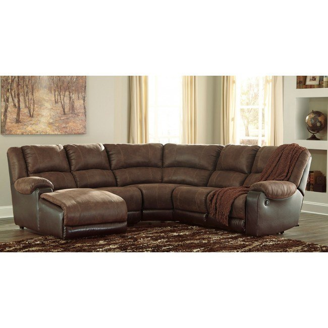 Nantahala Coffee Modular Reclining Sectional