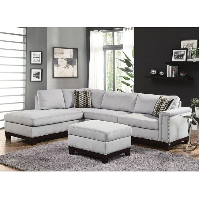 Mason Reversible Sectional Set (Blue Grey)