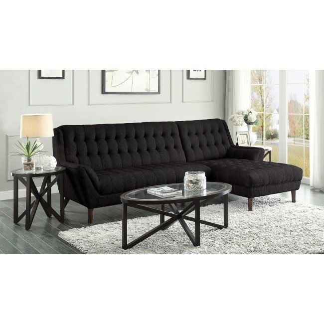 Natalia Sectional Set (Black)