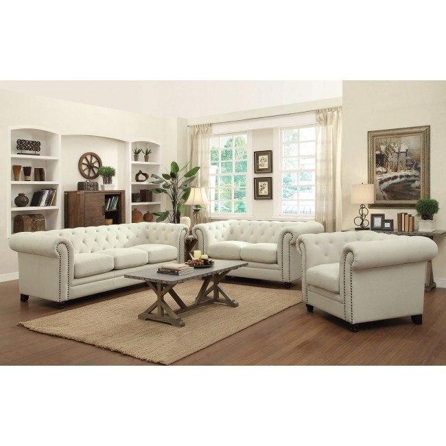 Roy Living Room Set (Oatmeal)
