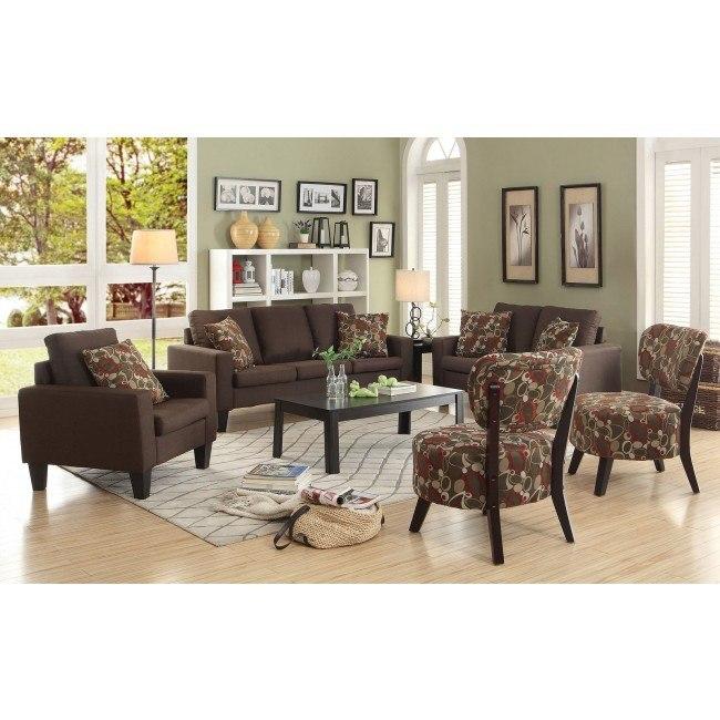 Bachman Living Room Set (Chocolate)