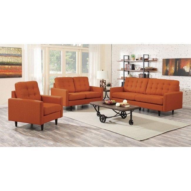 Kesson Living Room Set (Orange)