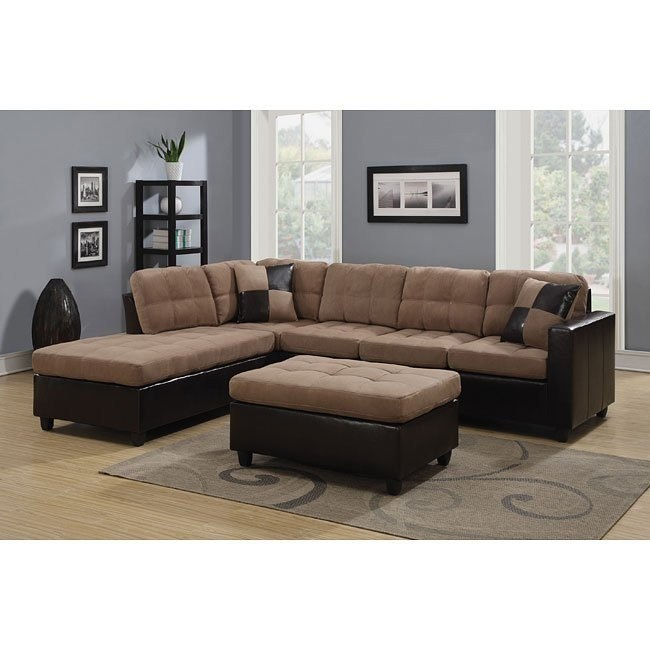 Mallory Reversible Sectional (Tan)