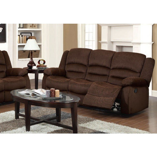 Bailey Reclining Sofa Chocolate By Acme Furniture