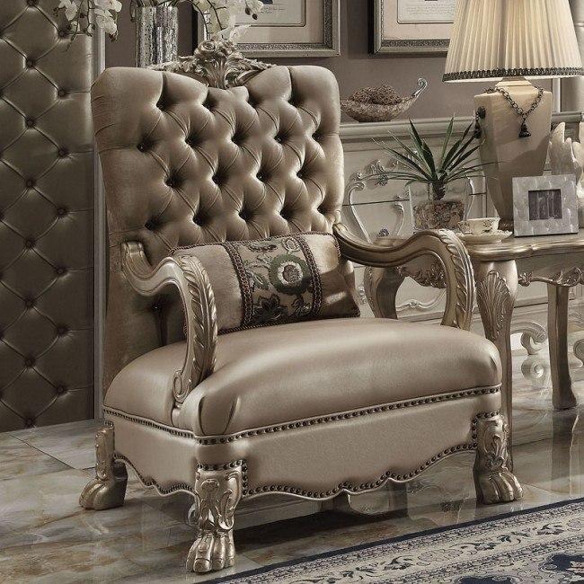 Dresden Chair (Bone Velvet)