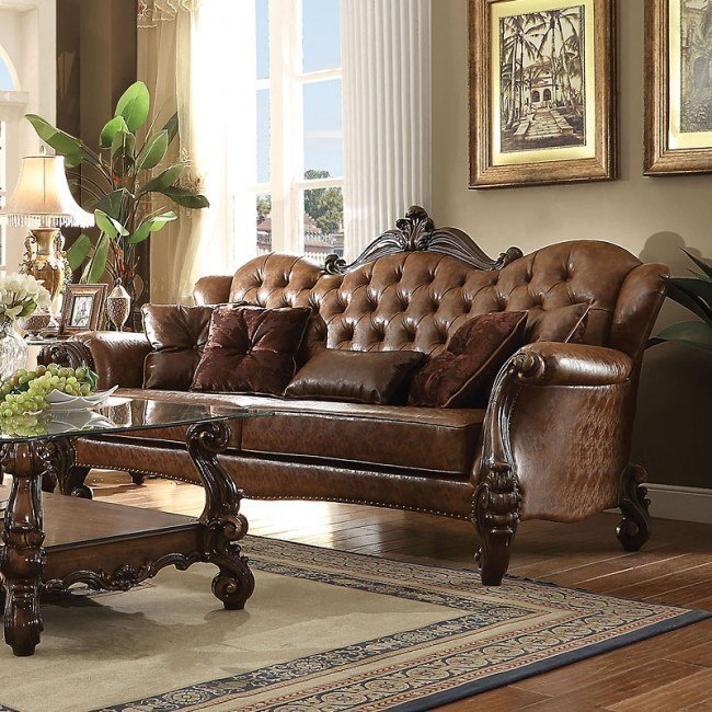 Versailles Sofa (Light Brown PU)