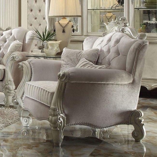 Versailles Chair (Ivory Velvet)