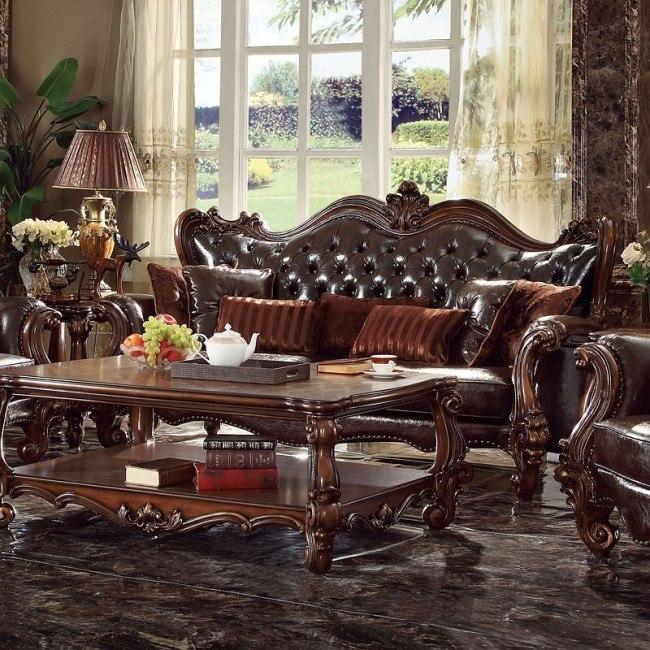 Versailles Sofa (Dark Brown PU)