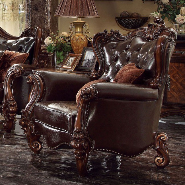 Versailles Chair (Dark Brown PU)