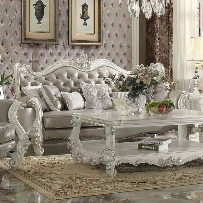Versailles Sofa (Vintage Gray PU)