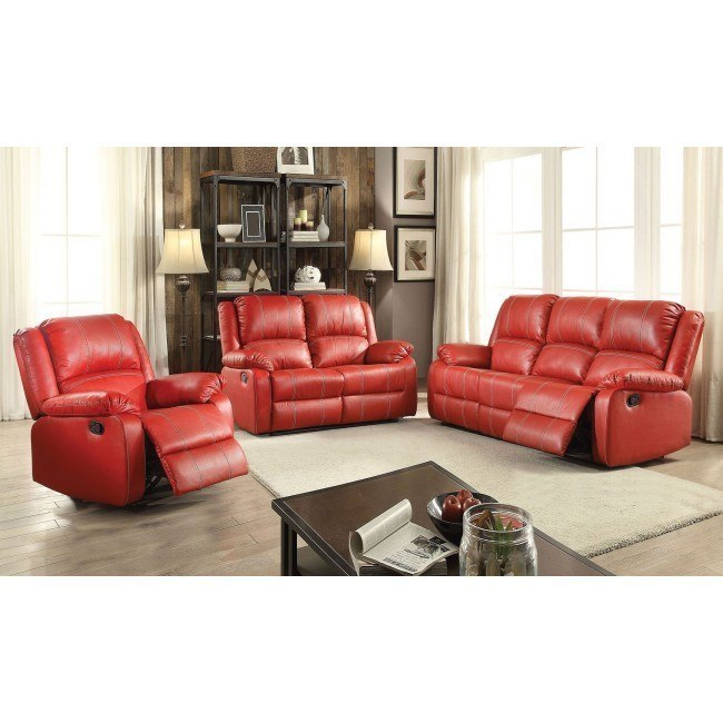 Zuriel Reclining Living Room Set (Red)